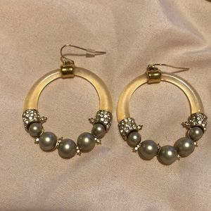 Alexis Bittar lucite hoop earrings